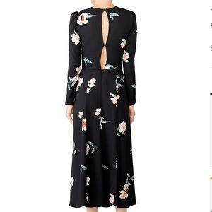 5f70fd29e5d1 Reformation Dresses - Reformation Vanessa Dress Ornament Black Floral
